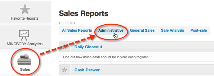 cash drawer report