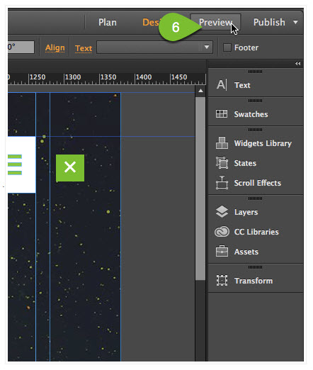 Putting widgets and links on Adobe Muse - branded web tools