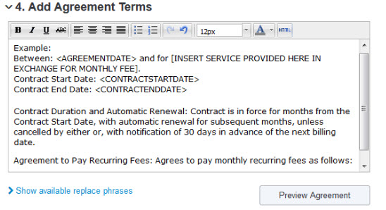 Adding An Agreement To A Contract