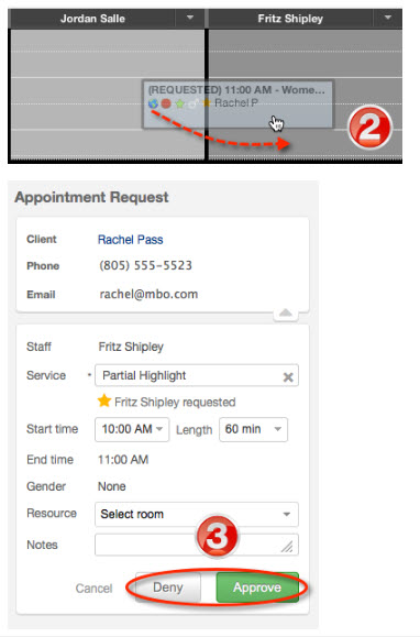 How to manage appointment requests user added image altavistaventures Choice Image