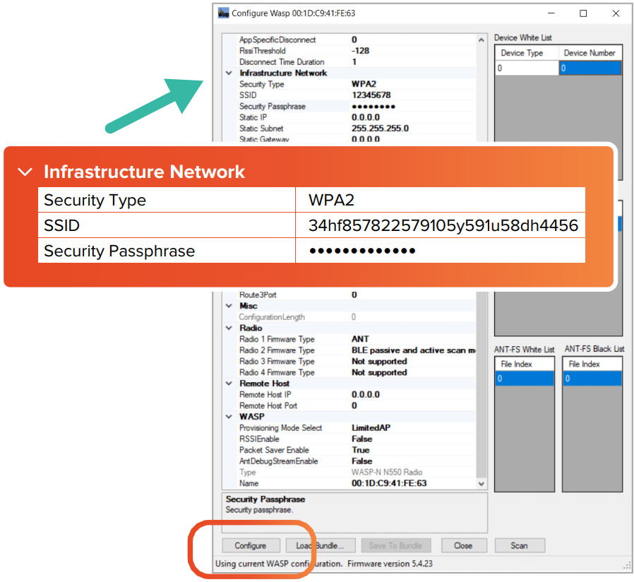 Setting Up Networks for Wireless Receivers - FitMetrix