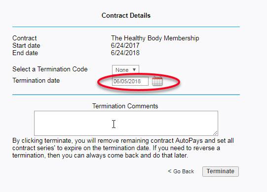 Terminate Or Delete A Contract