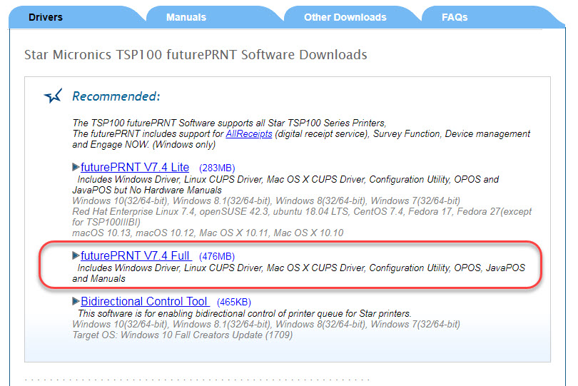 Thermal Receipt Printer (Eco-Friendly) - STAR MICRONICS TSP 143 (PC