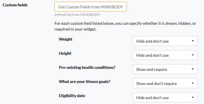 Prospect widget setup and options - branded web tools