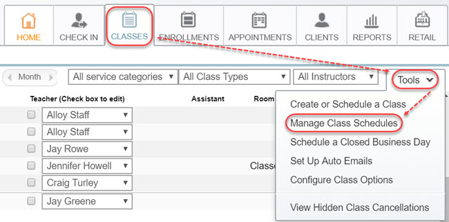 free classes faq