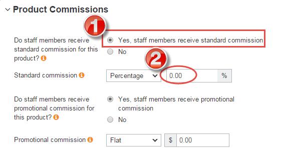 standard sales commission