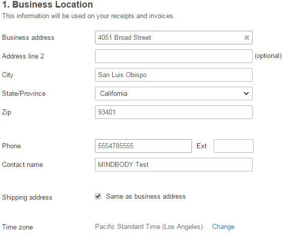 how to change my business address