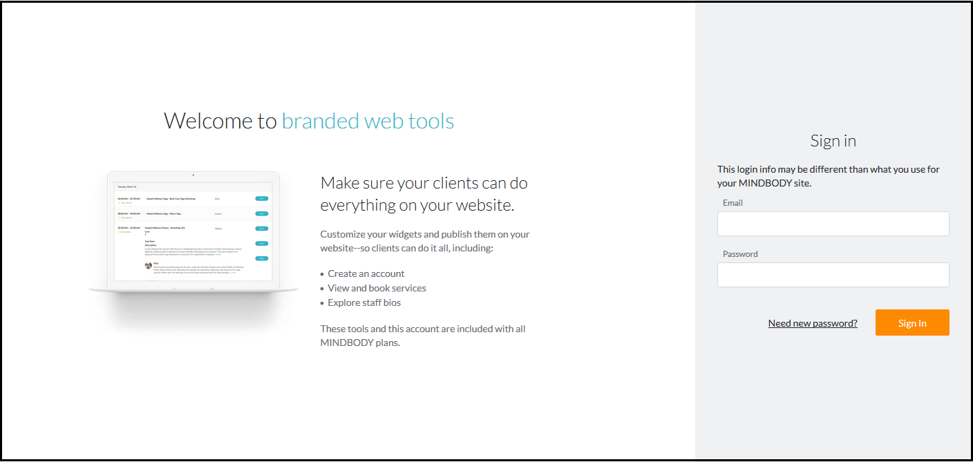 Setting up branded web tools