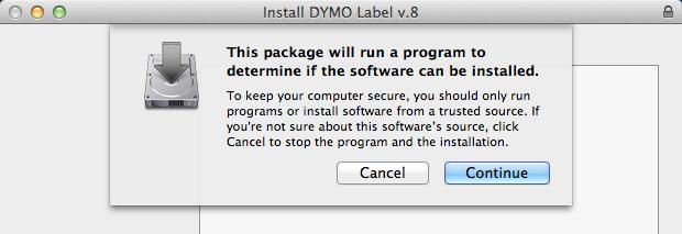 Label Printer - DYMO LABEL WRITER (Mac)