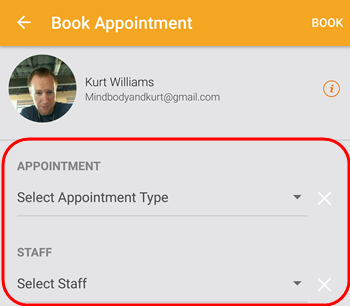 how to delete an appointment in mindbody business app