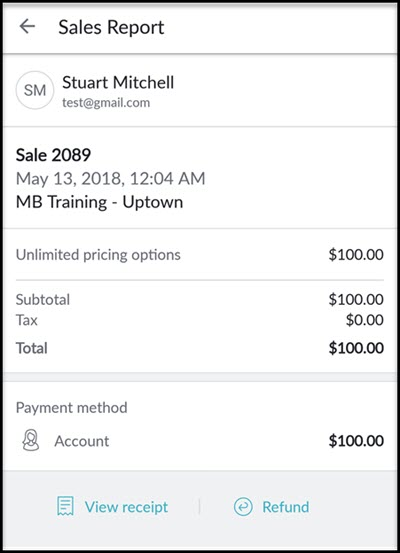 sales report business app android