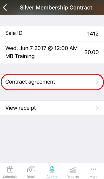 How Can I View A Clients Signed Contract Agreement Business App Ios