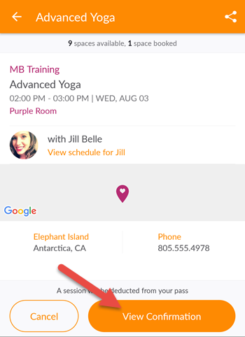 how to use mindbody connect app